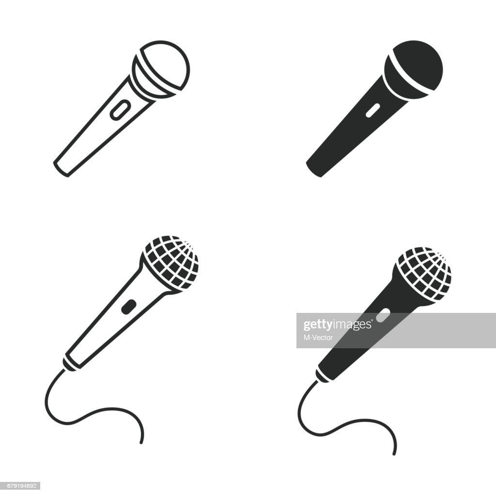 Microphone icon set.