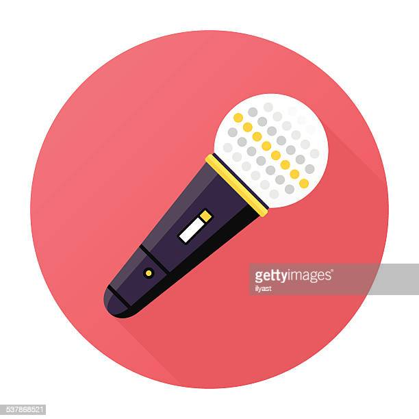 microphone icon - karaoke stock illustrations
