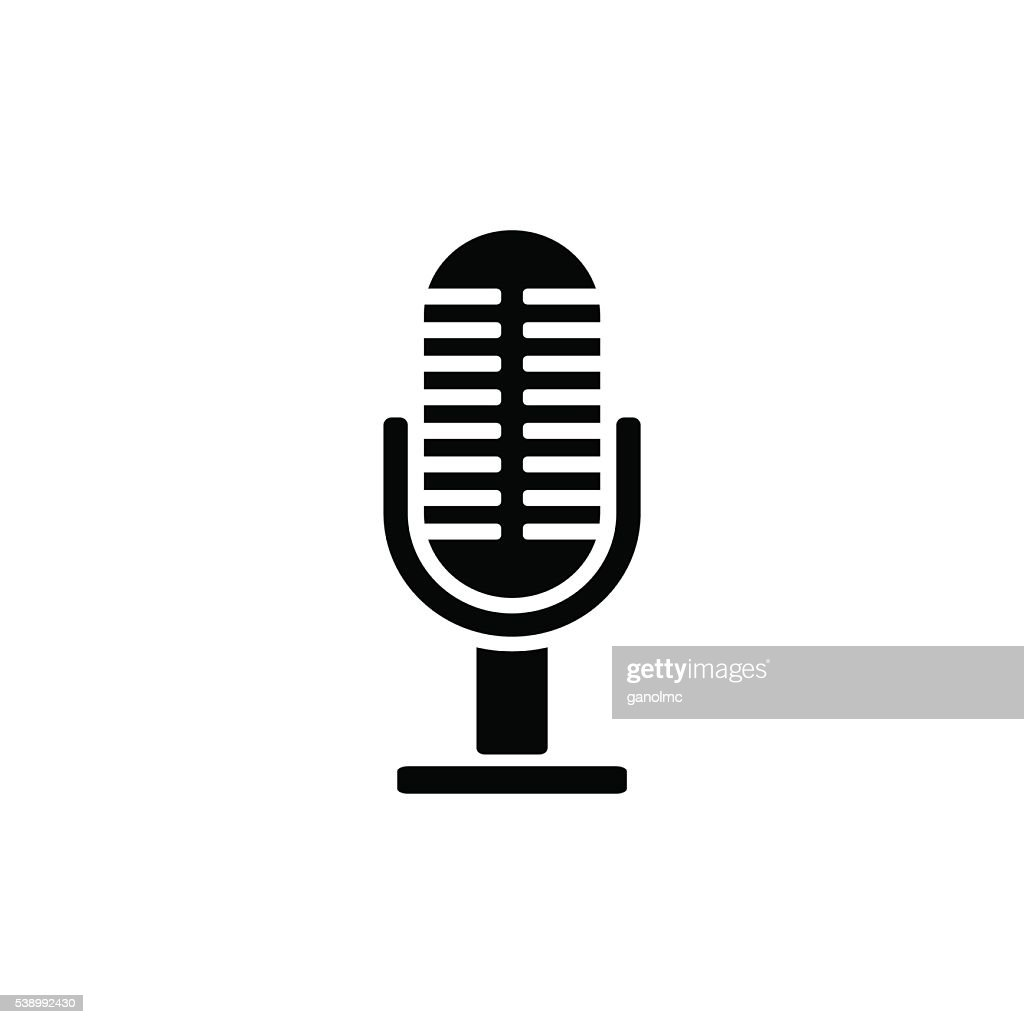 Microphone icon. Vector illustration