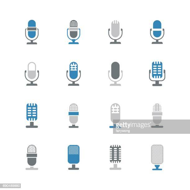 microphone icons - microphone stock illustrations