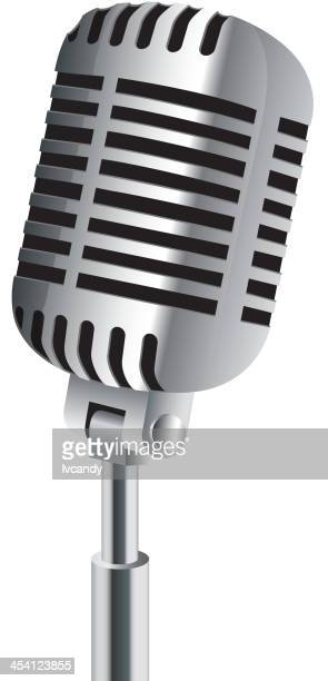 microphone isolated on white - microphone stock illustrations