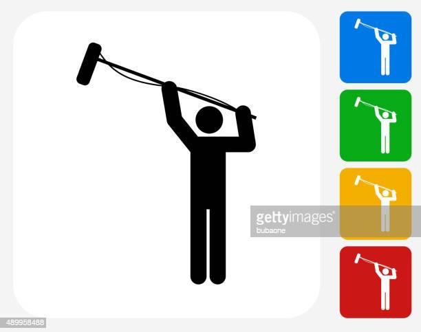Microphone Operator Icon Flat Graphic Design