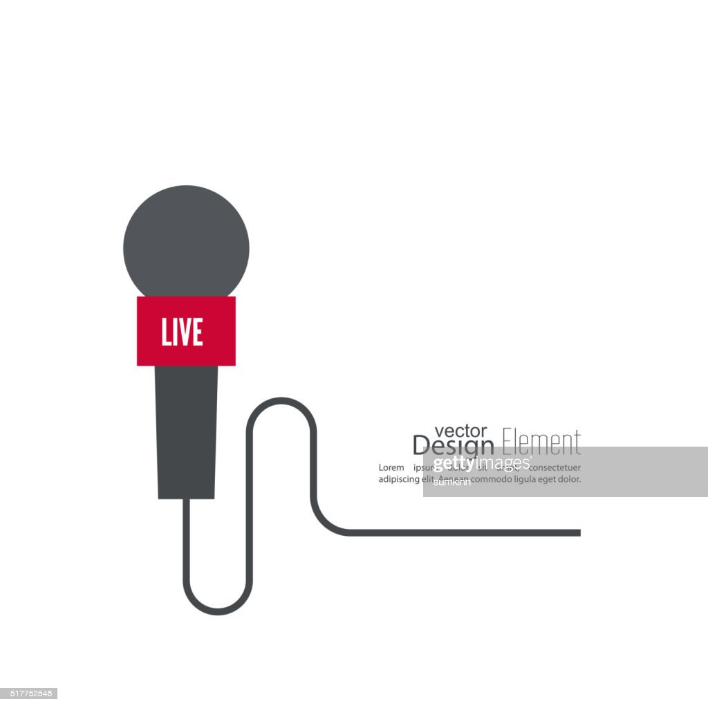 Microphone with a wire.