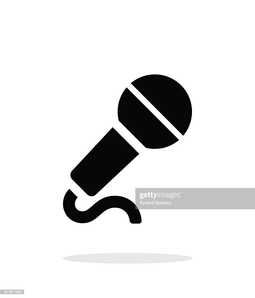 Microphone with cable icon on white background.