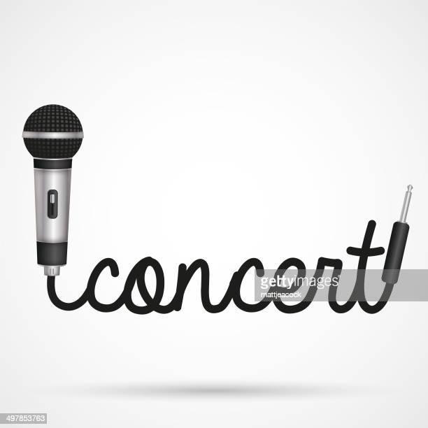 Microphone word concert