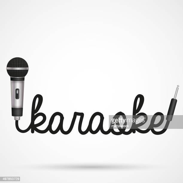 microphone word karaoke - karaoke stock illustrations