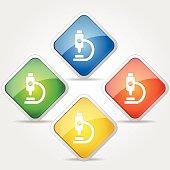 Microscope Colorful Vector Icon Design