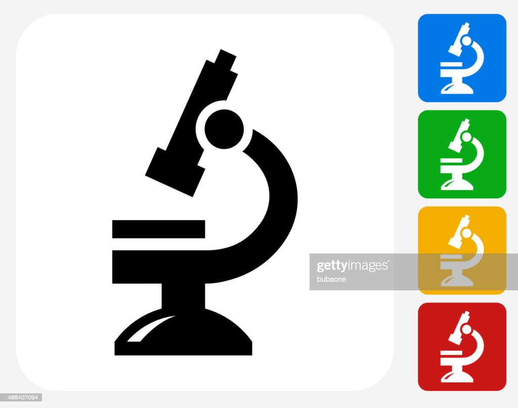 Microscope Icon Flat Graphic Design