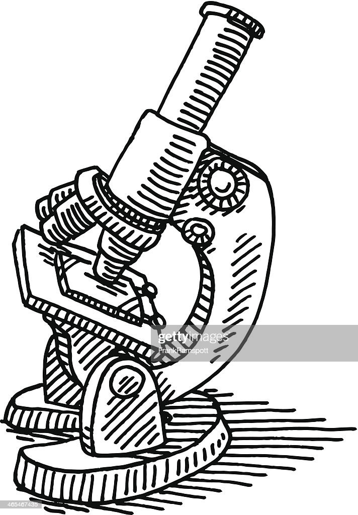 science microscope drawing vector illustration graphics vectors graphic gettyimages res embed