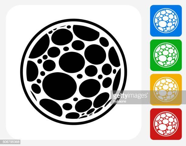 Microscopic Icon Flat Graphic Design