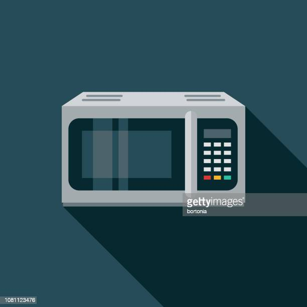 Microwave Flat Design Appliance Icon