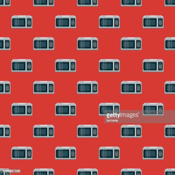 Microwave Home Appliance Seamless Pattern