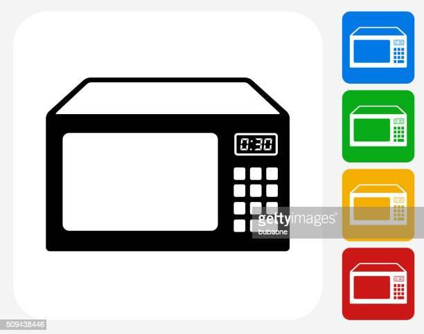 Microwave Icon Flat Graphic Design
