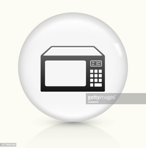 Microwave icon on white round vector button