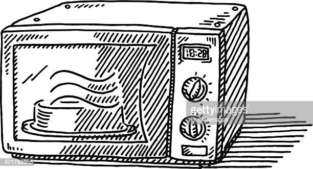 Microwave Oven Drawing
