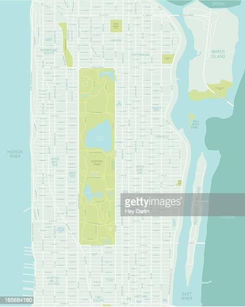 ミッドマンハッタンマップ - アッパーイーストサイドマンハッタン点のイラスト素材/クリップアート素材/マンガ素材/アイコン素材