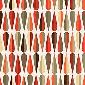 Mid-century modern half drops seamless pattern