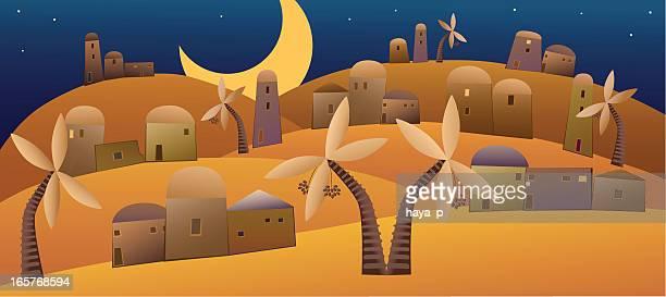 Naher Osten Dekorative Nacht-Landschaft