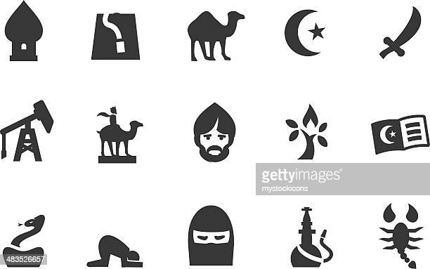 middle east icons - religious dress stock illustrations, clip art, cartoons, & icons