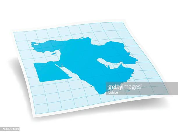 middle east map isolated on white background - lebanon country stock illustrations, clip art, cartoons, & icons