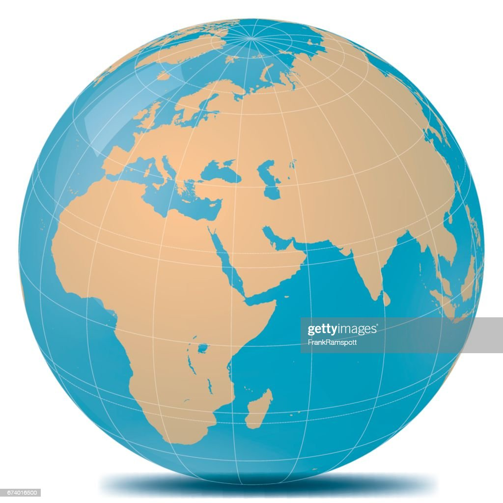 Nahen Osten Planetenerde : Stock-Illustration