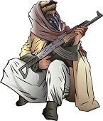 Middle East rebel fighter