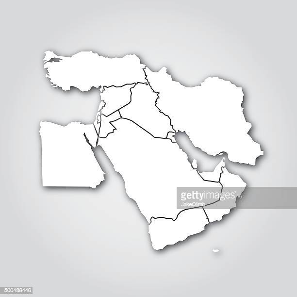 middle east silhouette white - gulf countries stock illustrations