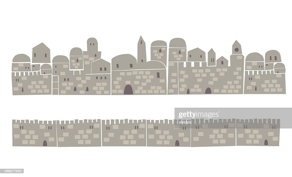Middle East Town, Wall