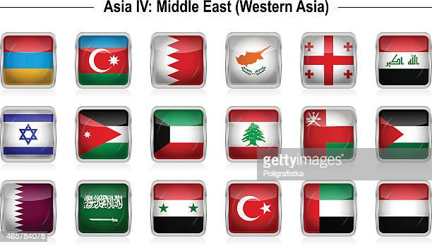 flags - asia 4: middle east - kuwait stock illustrations, clip art, cartoons, & icons