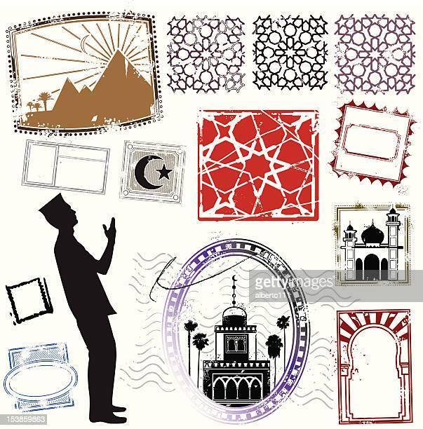 ilustraciones, imágenes clip art, dibujos animados e iconos de stock de detalles de diseño de medio oriente - moruno