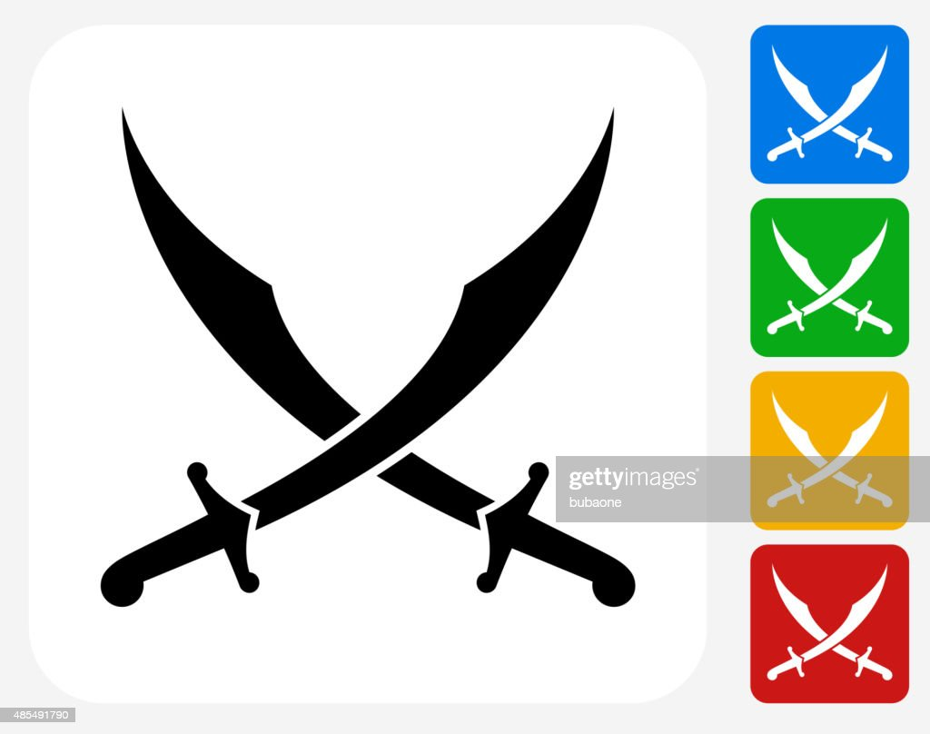 Middle Eastern Swords Icon Flat Graphic Design Vector Art Getty Images