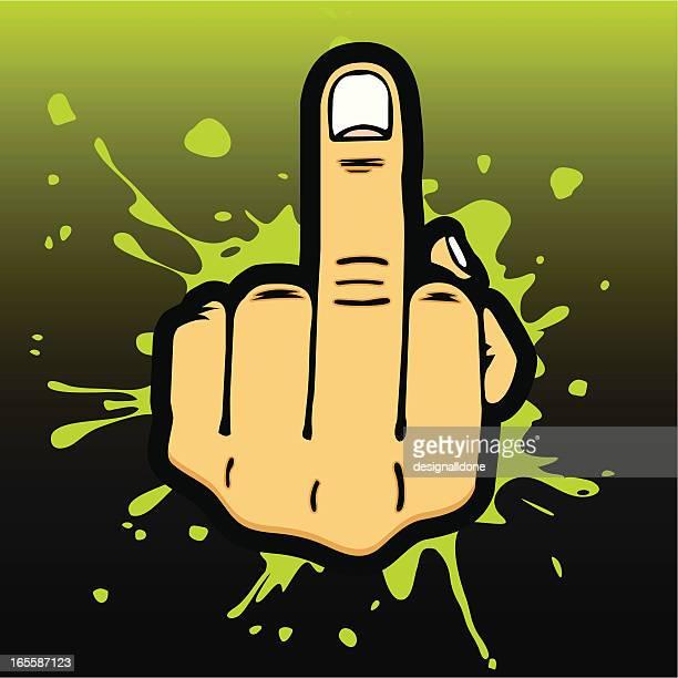 illustrations, cliparts, dessins animés et icônes de middle doigt salute - doigt dhonneur