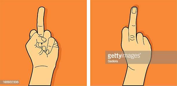 illustrations, cliparts, dessins animés et icônes de doigt du milieu - doigt dhonneur