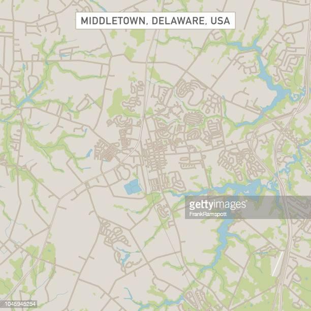 Middletown Delaware US City Street Map