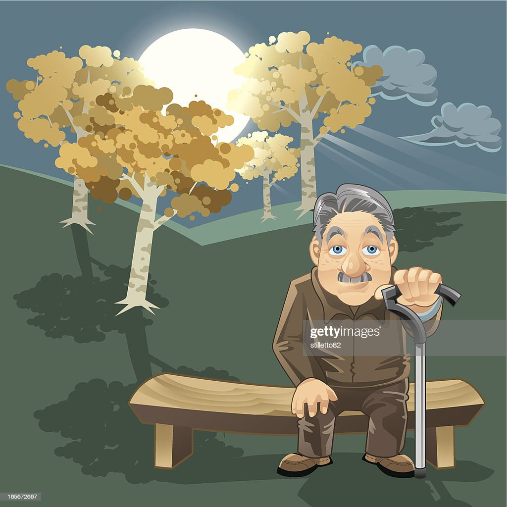 Midnight Oldman : stock illustration