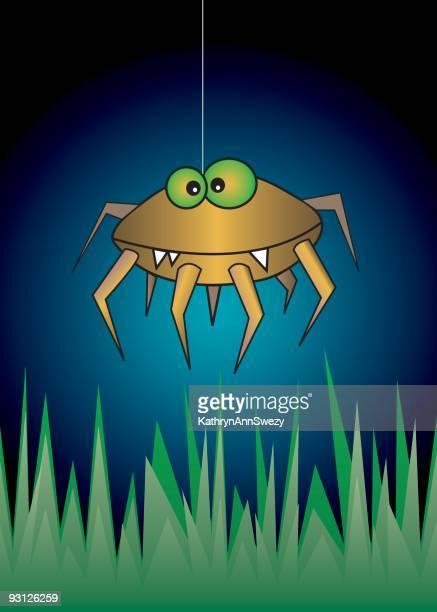 midnight spider - phobia stock illustrations, clip art, cartoons, & icons