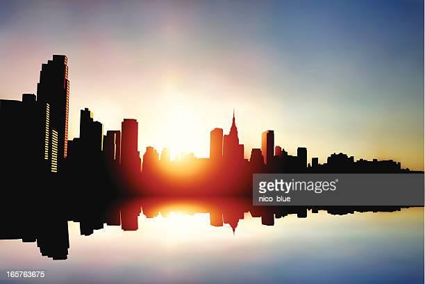 Midtown Manhattan Sonnenaufgang