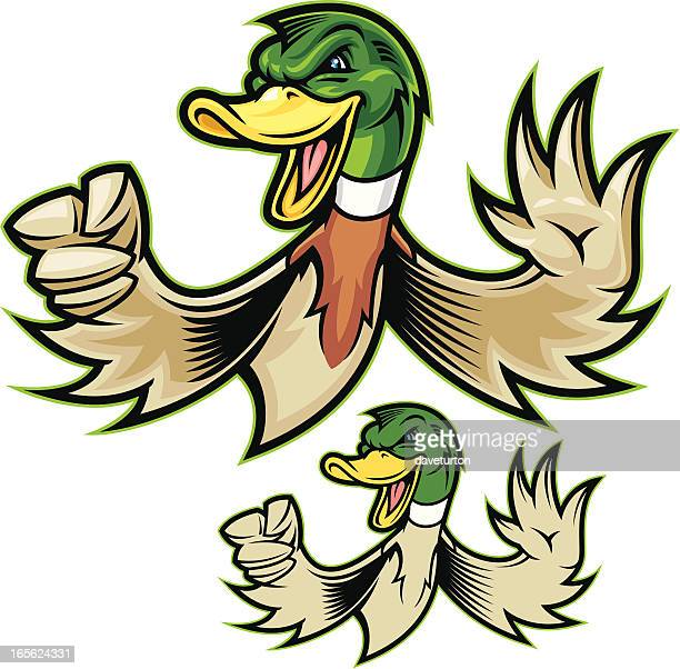 mighty duck - duck stock illustrations, clip art, cartoons, & icons