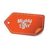 Mighty Offer Orange Vector Icon Design