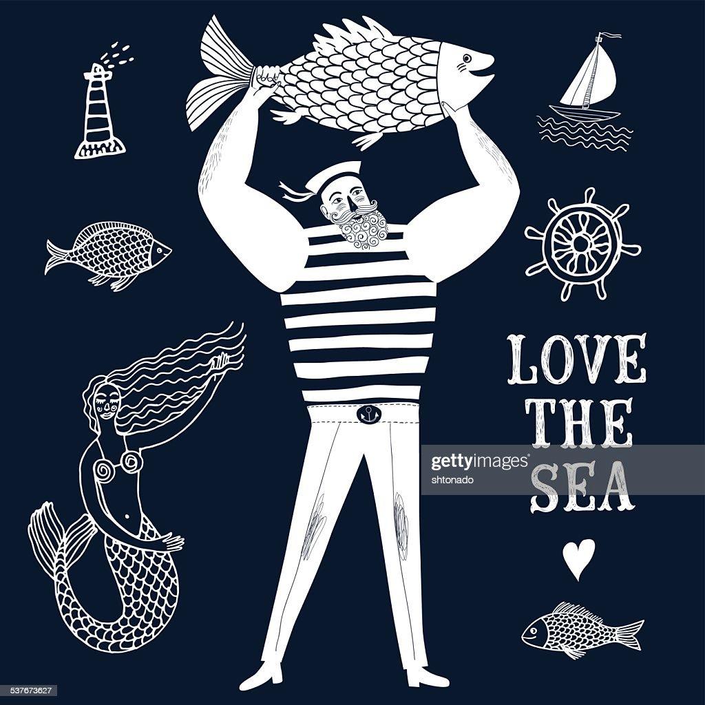 Mighty sailor fisherman