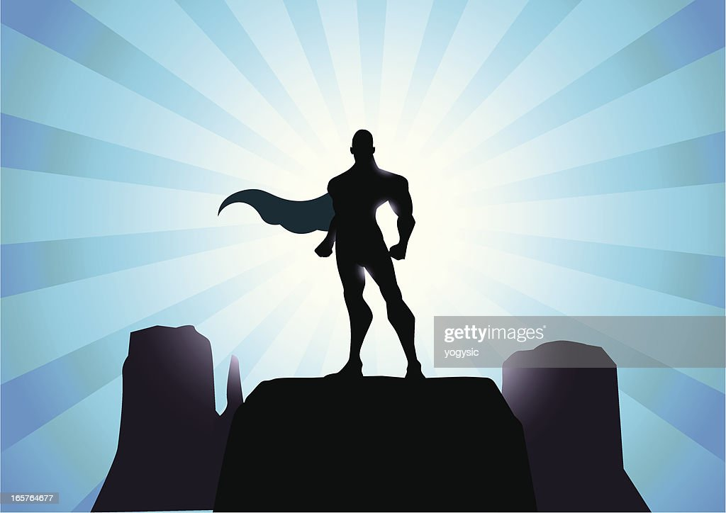 Mighty Superhero Silhouette