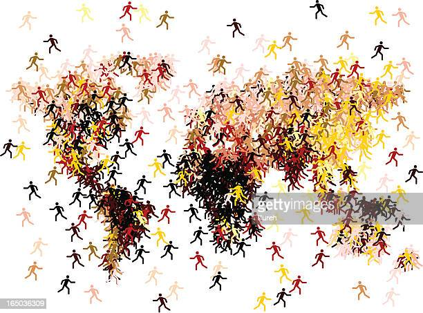 migration - emigration and immigration stock illustrations