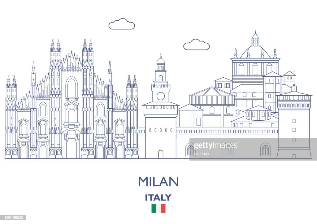 Milan City Skyline, Italy
