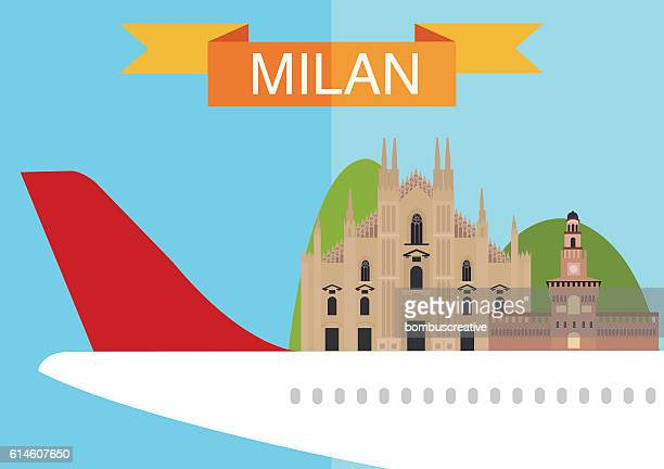 milan city - milan stock illustrations, clip art, cartoons, & icons