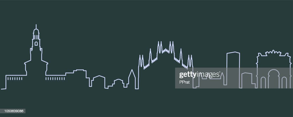 Milan Single Line Skyline