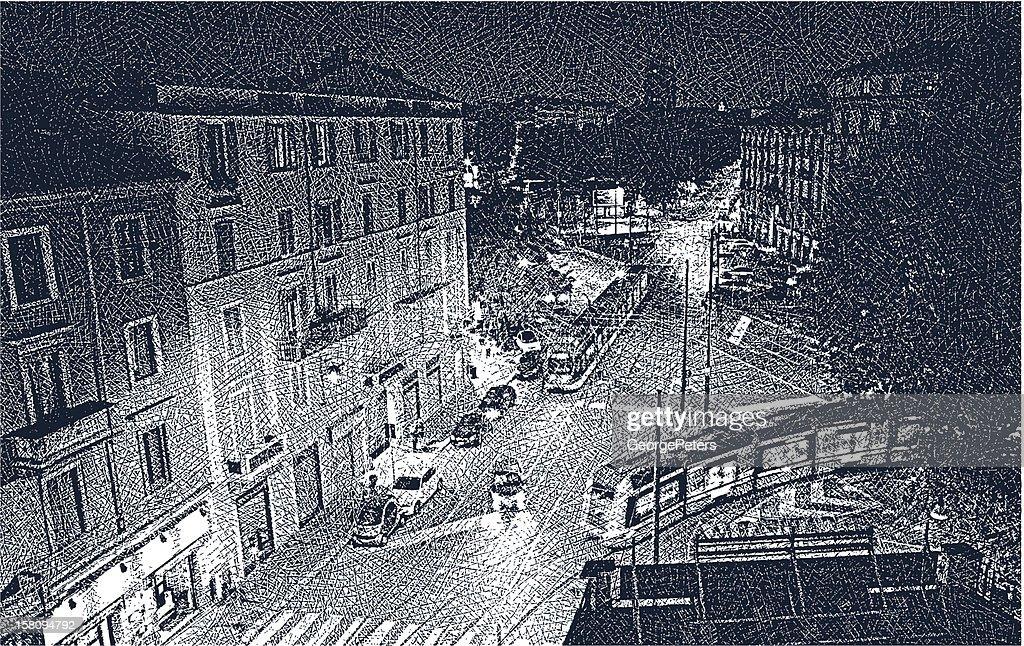 Milan Street At Night