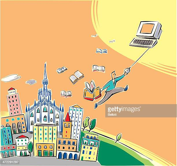 milano - milan stock illustrations, clip art, cartoons, & icons