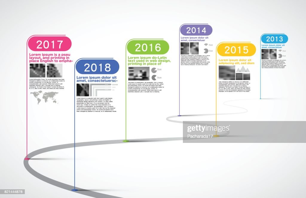 Milestones Company, Timeline Infographic, vector,  history; calendar;  year; milestone; timeline chart