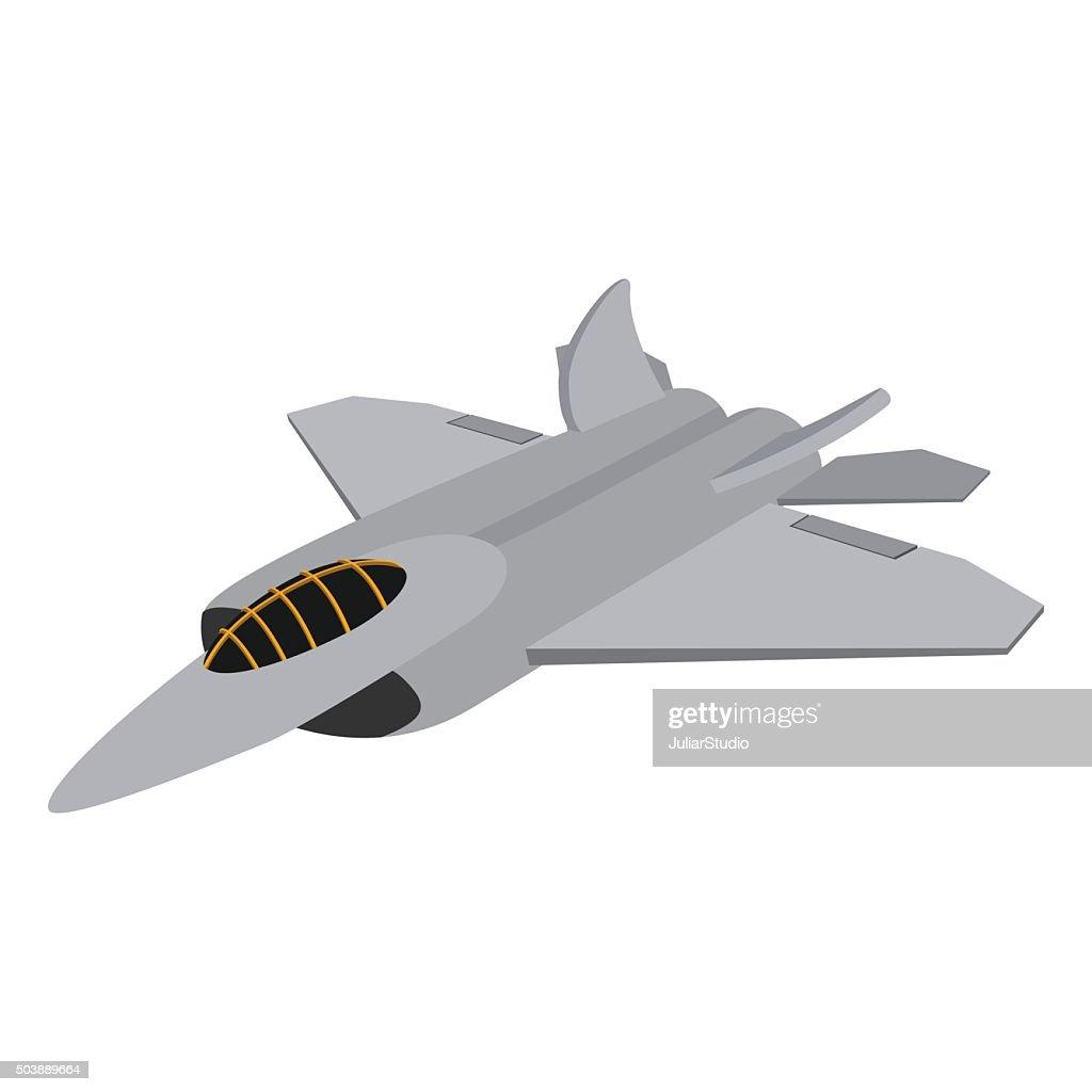 Military aircraft cartoon icon