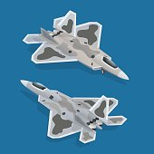 Military airplane isometric